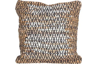 Loosong Cotton & Leather Hand-Knit Cushion