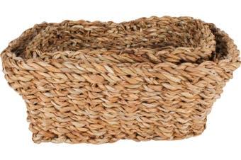 Coolangatta Sea Grass Rectangular Baskets Set of 3