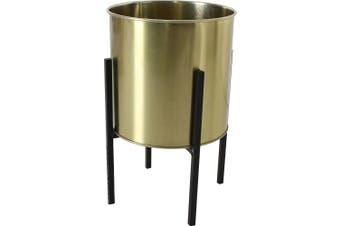 Paro Metal Flower Pot Stand Gold