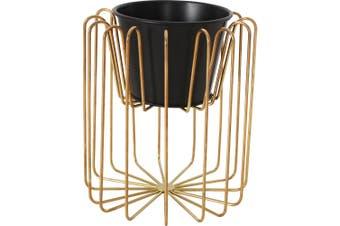 Neto Metal Frame Flower Pot Gold