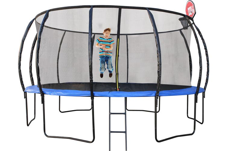 14ft Trampoline With Basketball Hoop PERTH PICK UP