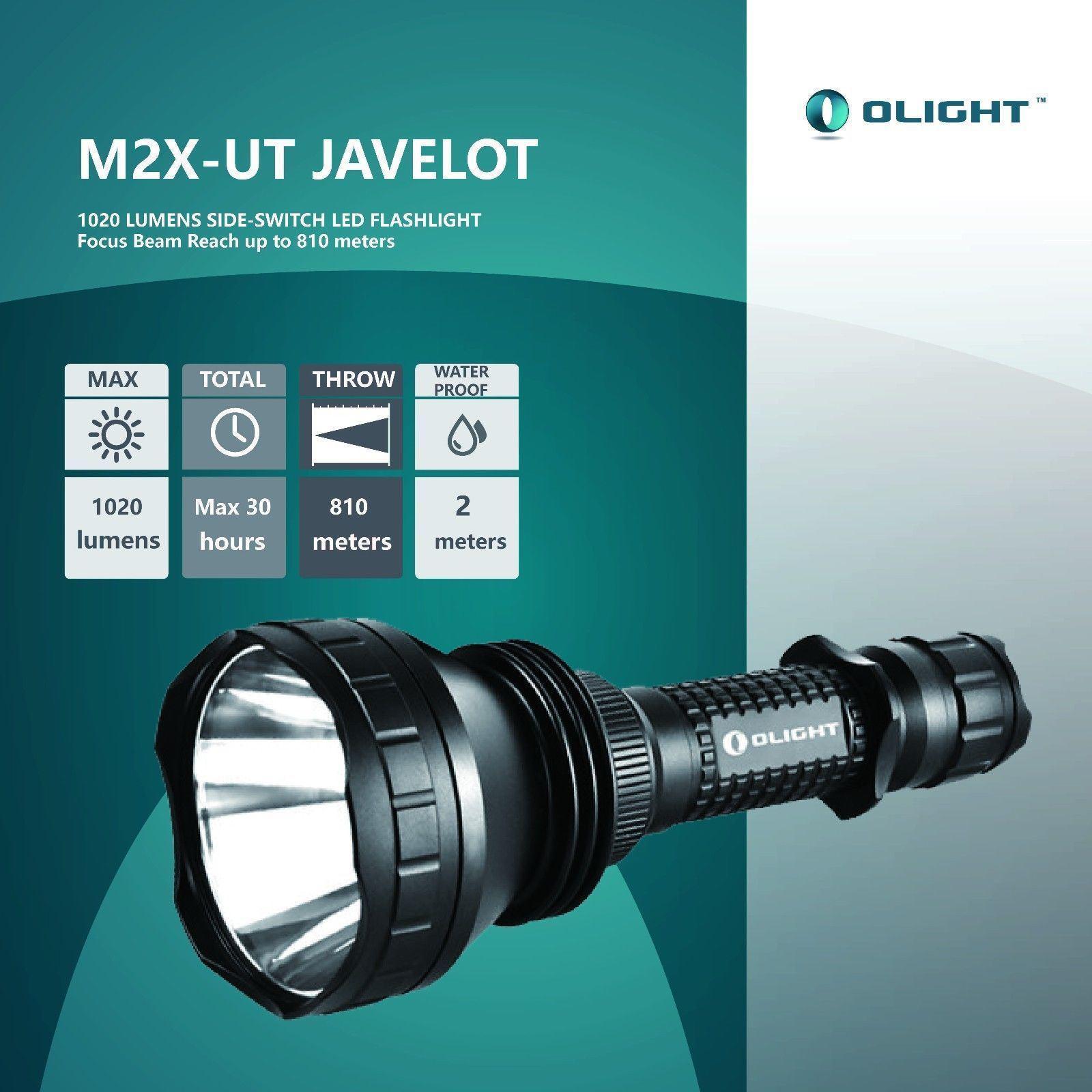 NEW OLIGHT M2X-UT Javelot 1020 Lumens Portable /& extended-range LED flashlight