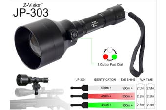 Z-Vision Jp-303 3 In 1 Rifle Mount Light Kit 3 Led Colours