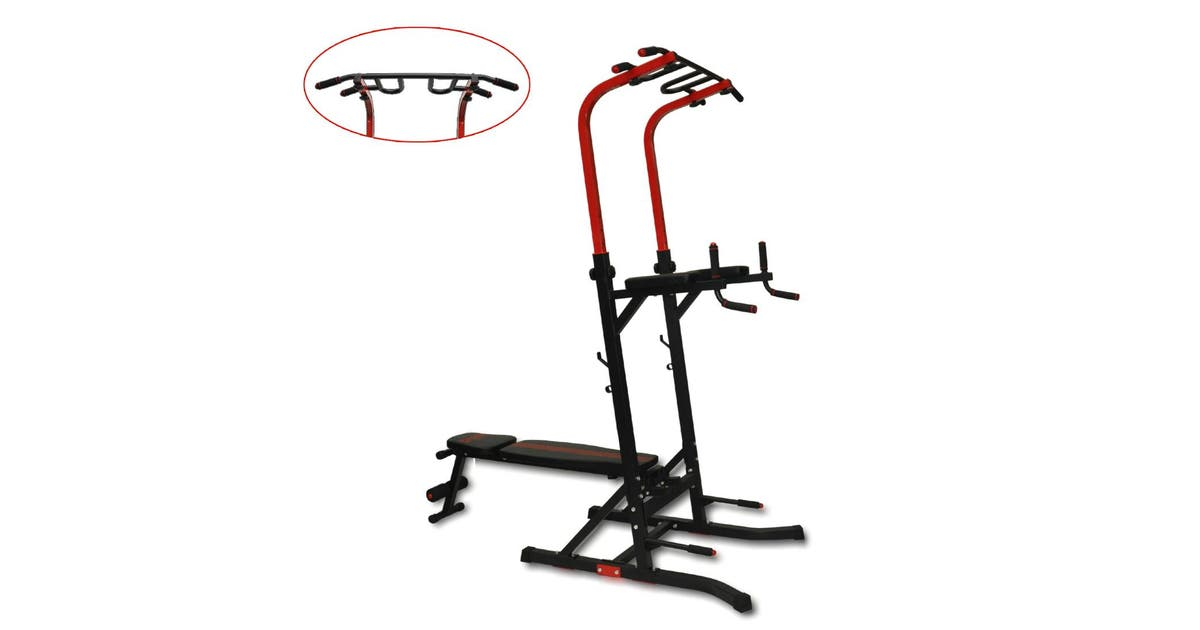 Power Tower Chin-Pull Up Multi-Grip Bar Station Dip VKR