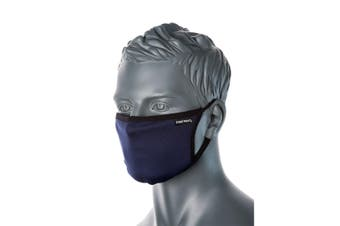 Portwest Triple Layer Anti-Microbial Fabric Face Mask 1pc - Navy