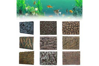 3D PU Rock Stone Reptile Aquarium Fish Tank Background Backdrop Board US U SU