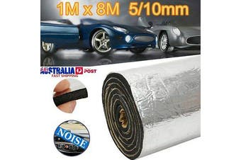 1 x 8M 5/10mm Car Audio Sound Deadener Heat Shield Insulation Noise Proofing