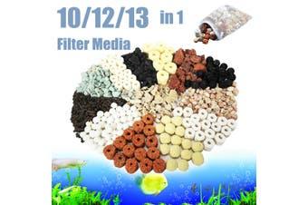 10/12/13 in 1 Aquarium Fish Tank Pond Biological Rings Bio Ball Filter Media Bag