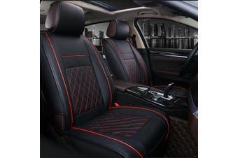 2Pcs Universal Car Vehicle Front Row Seat Cover Chair Cushion Pad Mat Protector(redblack,2pcs)