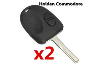 2x For Holden Commodore VS VX VY VZ WH WK 2 Button Car Remote Key Fob Case //
