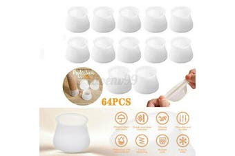 64pcs Silicone Chair Furniture Leg Feet Cap Protection Table Cover Pad