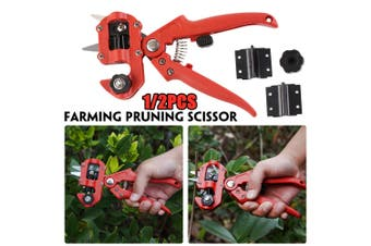 1/2 Set New Grafting Machine Garden Tools with 3 Blades Chopper Tree Grafting Tools Secateurs Scissors Grafting KIT