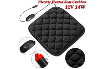 ?? 2x Car Single Seat Heated Cover Chair Cushion Pad Mat Warm Warmer Winter 12V