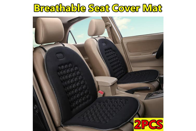2PCS Black Breathable Seat Cover Mat Comfortable Cushion For Car /Van /Truck /Office /Home