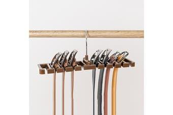2x Portable 10 Holes Tie Hanger Belt Scarf Necktie Rack Wardrobe Closet AU