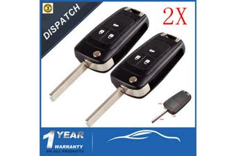 3 Button Remote Flip Key Case Shell FOB Enclosure For Holden Barina Cruze Trax