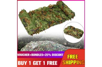 3x 5m Hunting Camping Jungle Cover Camouflage Net Woodlands Blinds Military Camo Buy 1 Get 1 Free