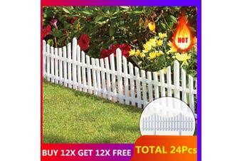 Garden Border Fencing Fence Pannels Outdoor Landscape Decor Edging Yard 12 Pack