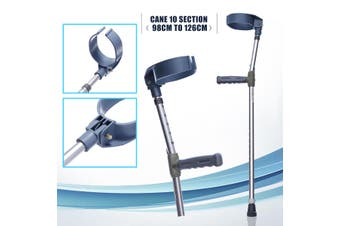 2pcs Adjustable Underarm Forearm Elbow Crutches Cane Walking Stick Aid Hand Grip