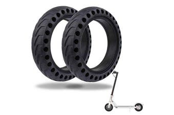 2pcs 8.5'' HoneycombSolid Rubber Tire Replace For Xiaomi M365 Electric Scooter