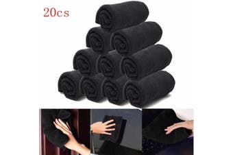 20PCS Microfibre Cleaning Cloths Micro Microfiber Dish Car Gym Towel Glass