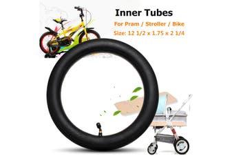 2x Inner Tube Bent Valve Black For HOTA Pram Stroller Bike 12 1/2 x 1.75 x 2