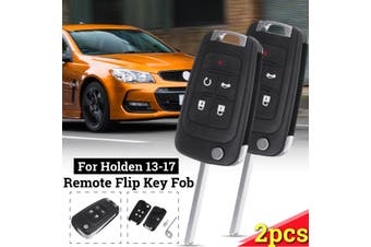 2Pcs 5 Buttons Remote Key Fob Case Flip Key Shell Replacement For Holden commodore VF models 05/2013 to 01/2017