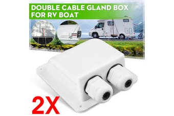2x Roof Solar Panel Twin Double Cable Gland Box Camping Caravan Motorhome Boat(2 pcs)