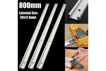 3PCS Aluminium 800mm T-Track T-Slot Miter Jig Tools For Woodworking Router !