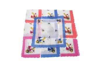 30Pcs Handkerchief 100% Cotton Pocket Square Hanky Soft Absorbent Vintage