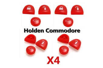 4 Set Red Key Buttons Remote Repair For Holden Commodore VS VT VX VY VZ WH