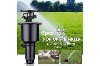 6x Sprinkler Head Wobble Tee Series 2 Water Saving Grass Lawn Garden Wobbler AU