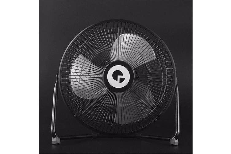 Digoo DF-101 10 Inch Black Metal USB Rechargeable Cooling Fan Buil-in 18650 Battery USB Cable Included