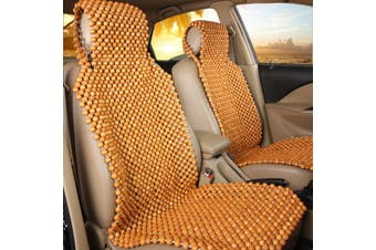 【Free Shipping + Flash Deal】Car Seat Cushion Pad Cover Natural Wooden Bead Beaded Supper Cool Comfortable(yellow)