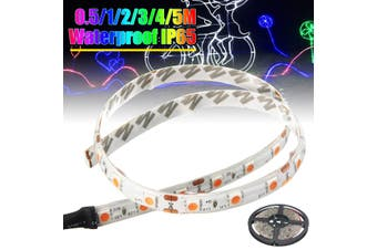 Dimmable LED UV Black Light Strip Kit, UV Lamp Beads, 12V Flexible Blacklight Fixtures, 0.5/1/2/3/4/5Mm LED Ribbon, IP65 Waterproof for Indoor Fluorescent Dance Party, Stage Lighting, Body Paint