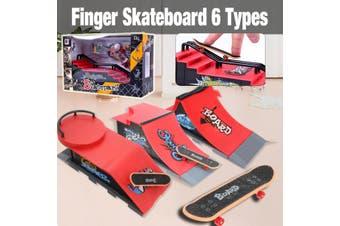 Skate Park Ramp Parts for Tech Deck Fingerboard Finger Board Ultimate Parks Kit(E)