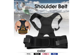 Adjustable Posture Corrector Back Support Shoulder Lower Back Brace Belt Unisex M