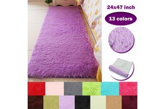 60x120cm Anti-Skid Fluffy Area Rug Dining Room Carpet Floor Mat Parlor Decor