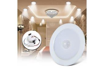 5/7W E27 PIR Motion Sensor 10 SMD LED Ceiling Step Light Downlight Wall Path Lamp