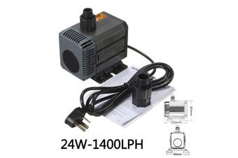24W HQB Submersible Water Pump Fish Tank Aquarium Pond Pool Waterfall Fountain Sump