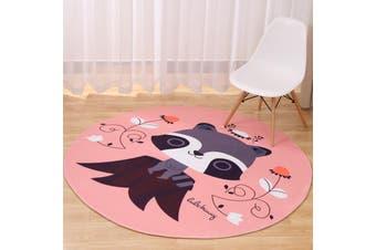 Little Raccoon# Child Room Round Carpet Yoga Mat Non-slip Floor Mats Area Rug Cartoon # 80cm