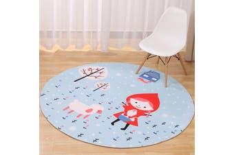 Little Red Riding Hood#Child Room Round Carpet Yoga Mat Non-slip Floor Mats Area Rug Cartoon # 70cm