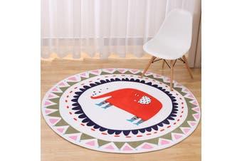 Elephant# Child Room Round Carpet Yoga Mat Non-slip Floor Mats Area Rug Cartoon # 70cm