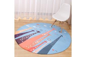 Carousel# Child Room Round Carpet Yoga Mat Non-slip Floor Mats Area Rug Cartoon # 70cm