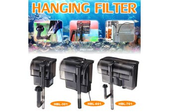 Aquarium External Canister Hanging Filter 300/500/600L/H Fish Tank Water