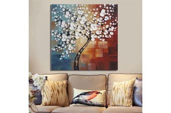 3 Size Framed Abstract Flower Tree Canvas Print Oil Painting Wall Art Home Decor # 50x50cm