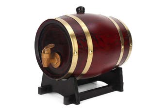 5L Oak Barrel Wooden Timber Red Wine Whisky Rum Wine Brewing Keg Contain#5L