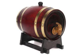 1.5L Oak Barrel Wooden Timber Red Wine Whisky Rum Wine Brewing Keg Contain#1.5L