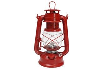 Vintage Style Lantern Kerosene Oil Paraffin Hurricane Lamp Light Adjustable Wick Red