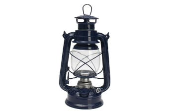 Vintage Style Lantern Kerosene Oil Paraffin Hurricane Lamp Light Adjustable Wick Blue